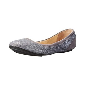 Cole Haan Ballet Leather Gray Glitter Flats