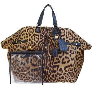 Saint Laurent leopard Travel Bag