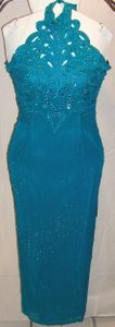 Showtime Collection Halter Beaded Split Prom Prom Dress