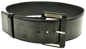 "Chanel Leather & ""Chanel"" Logo Belt (fits 29"" to 31"")"