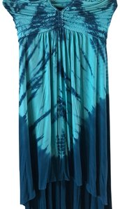 blue and turquoise tie dye Maxi Dress by Sky