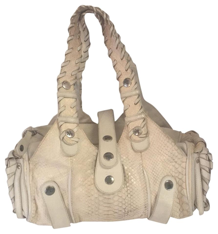 fd2756020c90 Chloé Silverado Cream Python Skin Leather Satchel - Tradesy