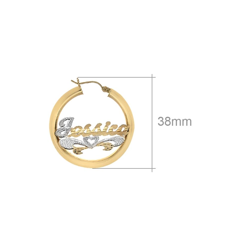 ddc69b1152c7a Avital & Co Jewelry 14k Yellow Gold 'jessica' Nameplate Hoop Earrings 67%  off retail
