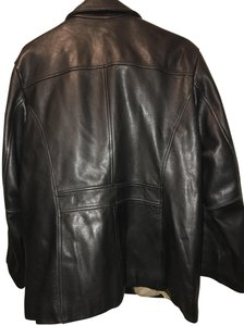 Wilsons Leather Satin Cotton Vest Chic Brown Leather Jacket