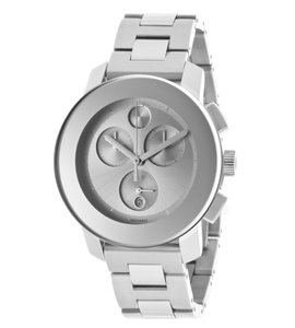 Movado Movado Silver Stainless Mid Sized Chronograph Bold 3600075 Watch