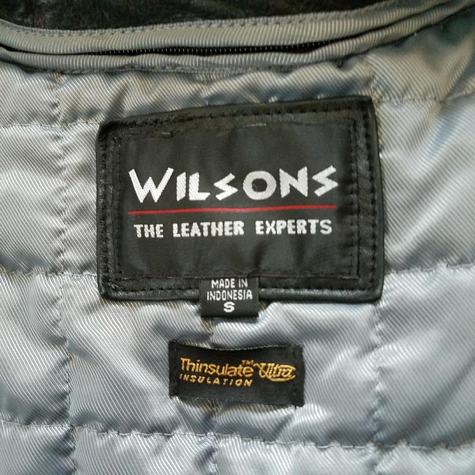 09a55b158 Wilsons Leather Black Soft Genuine Thinsulate Zip In Lining Jacket Size 4  (S) 53% off retail