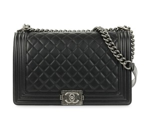 Chanel Boy Lambskin Quilted Shoulder Bag