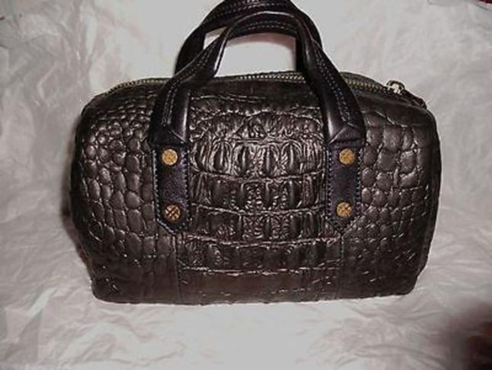 Joelle Hawkens by Treesje Currie Crocodile-embossed Mini Satch Black Leather  Satchel - Tradesy 4bfde2325aa7c