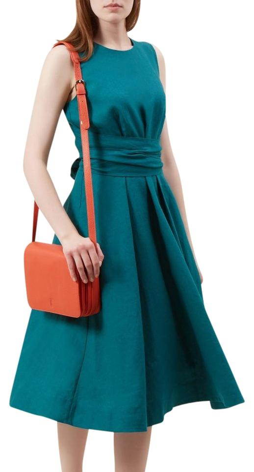 Hobbs London Turquoise Blue Twitchily Tie Waist Mid-length Short ...