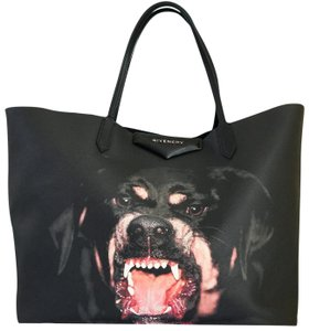 Givenchy Canvas Antigona Rottweiler Tote in Black