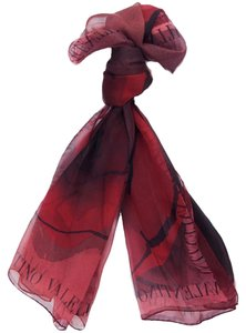 Valentino Valentino Red Floral Silk Ladies Scarves
