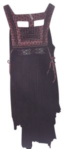 Free People short dress Black Or Tunic Embroidered on Tradesy