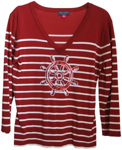 Needle & Thread Stripes Nautical 4th Of July Fourth Of July Sweater