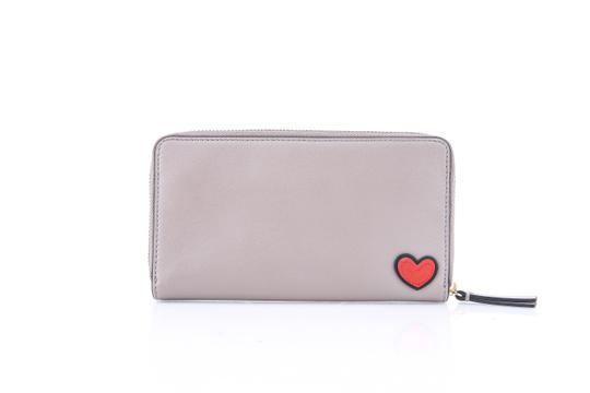 Tory Burch Tory Burch Peace Embellished Zip Continental French Gray Wallet Image 3