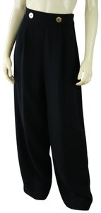 Andrea Jovine High Rise Vintage Pleated Baggy Pants Black