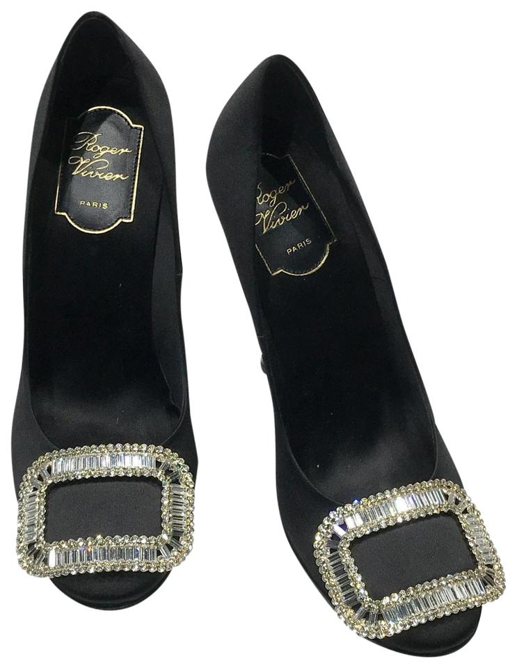 d188501db0d3 Roger Vivier Black Limelight Buckle Pumps Size EU 37 (Approx. US 7 ...