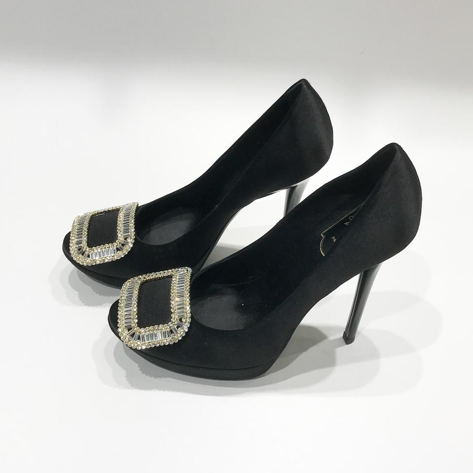 b5955f14c0cd Roger Vivier Black Limelight Buckle Pumps Size EU 37 (Approx. US 7) Regular  (M