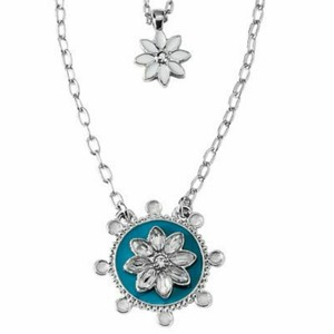 Lia sophia sliver tone chain with teal and white enamel lola lia sophia sliver tone chain with teal and white enamel lola necklace aloadofball