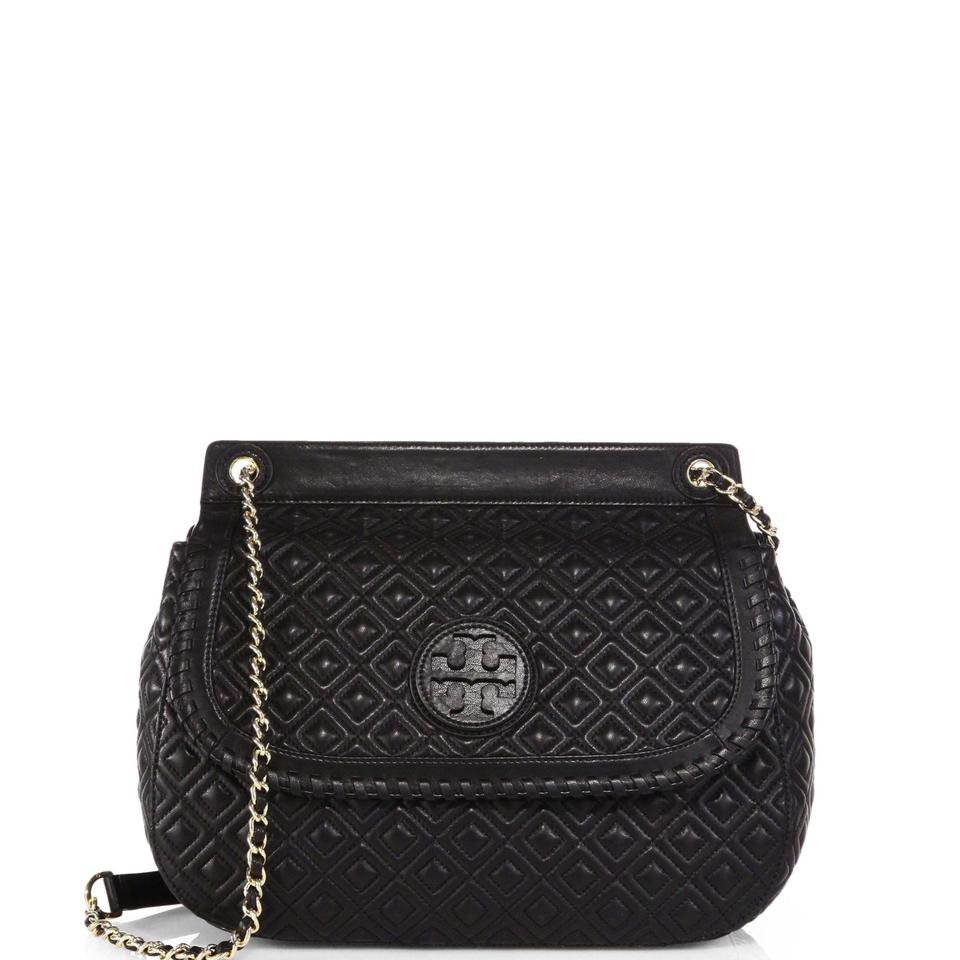 ab1bd3483dfc Tory Burch Saddle Bags Up To 70 Off At Tradesy. Tory Burch Marion Quilted  Patent Leather Small Flap Shoulder Bag Black Tory Burch ...