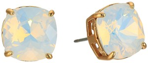 Tory Burch New Tory Burch Square Crystal Opal Stud Earrings T-Logo