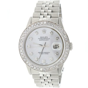 Rolex Datejust 36mm Steel Jubilee w/White MOP Diamond Dial & 1.5CT Bezel
