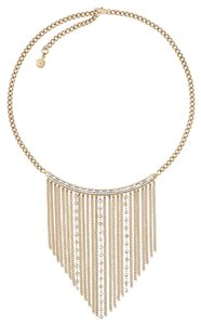 Michael Kors NWT MICHAEL KORS GOLD TONE BAGUETTE FRINGE NECKLACE MKJ6215 W BAG $250