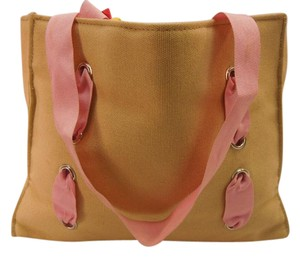 Victoria's Secret Vs Canvas Pink Ribbons Tote in multi