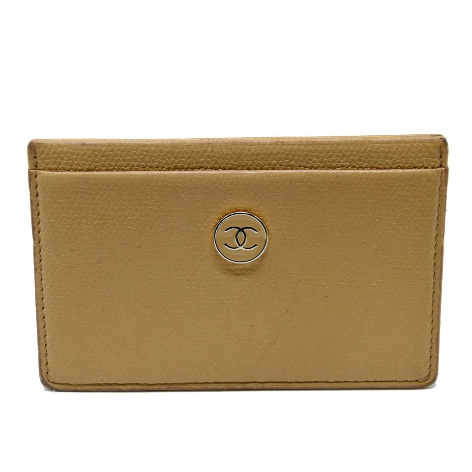 4ea3b66a9a0346 Chanel Signature CC Monogram Caviar Leather Travel Card Holder Wallet Image  0 ...