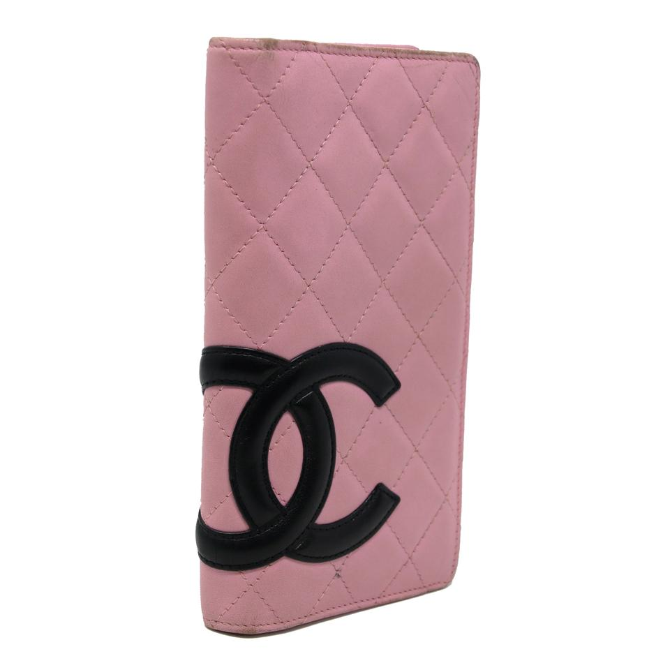 5ea27a5609c3 Chanel Pink Cambon Signature Quilted Cc Lambskin Flap Over Bifold Wallet