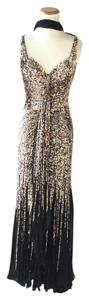 La Femme Sequin Prom Party Glam Silk Dress