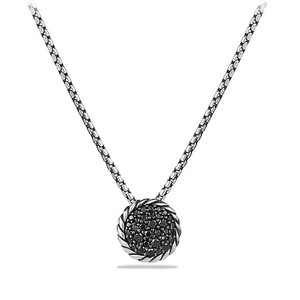 David Yurman petite pendant with black diamonds