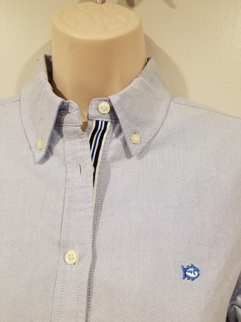 Southern Tide Button Down Shirt boat blue Image 3