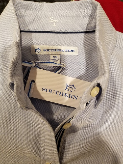 Southern Tide Button Down Shirt boat blue Image 6