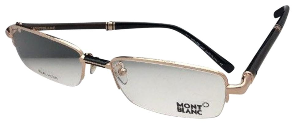 7542536a32ad Montblanc New Mb 434 028 56-18 140 Semi Rimless Black Brown   Gold 528  Silver Sunglasses