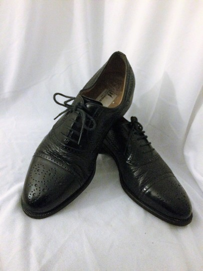 MORESCHI Loafers Italian Italy All Leather Black Formal Image 1