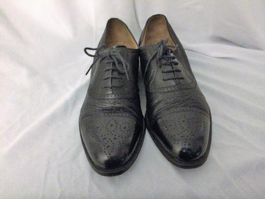 MORESCHI Loafers Italian Italy All Leather Black Formal Image 4