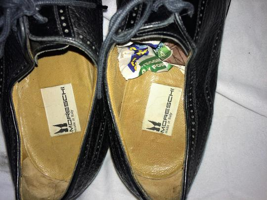 MORESCHI Loafers Italian Italy All Leather Black Formal Image 5