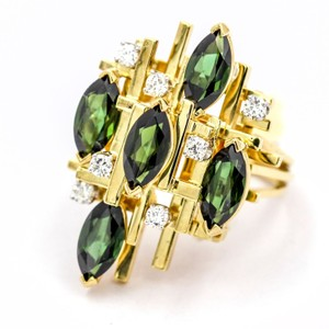 Henry Dunay Designs Henry Dunay Chrome Tourmaline and Diamond Ring in 18k Yellow Gold