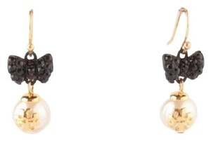 Tory Burch NEW Tory Burch Women's Crystal Pearl Bow Earrings