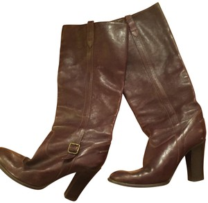 J.Crew Leather Riding Brown Boots