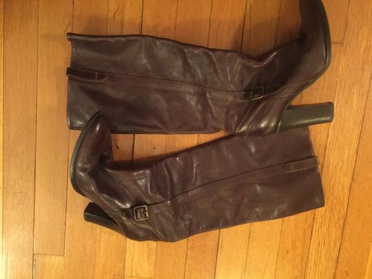 J.Crew Leather Riding Brown Boots Image 2