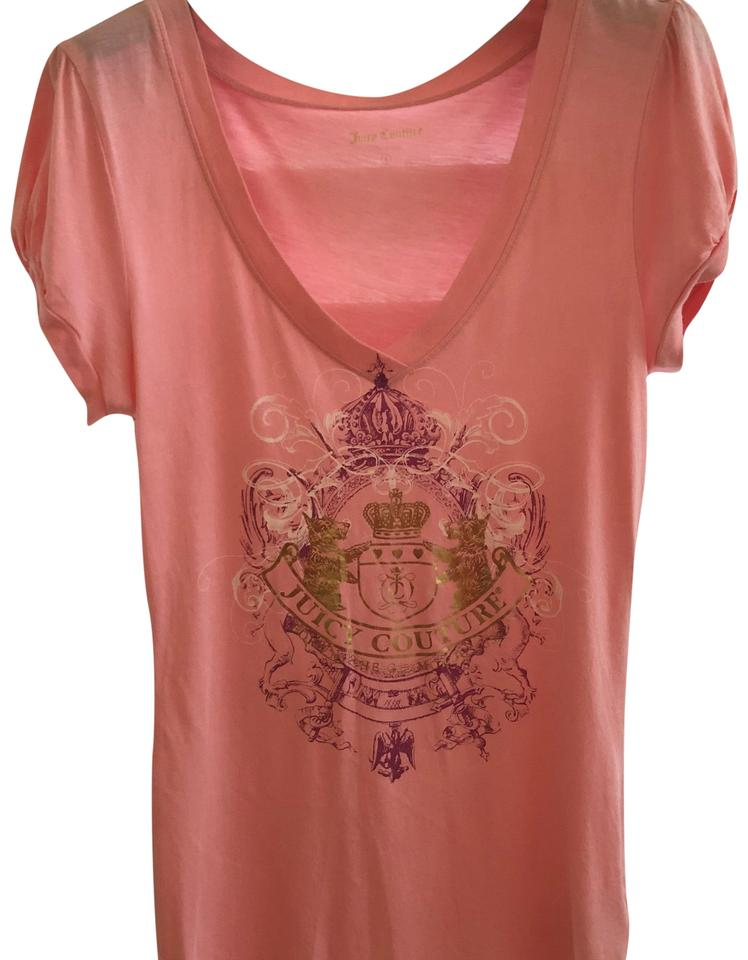 234290911 Juicy Couture Pink Women Tee Shirt Size 4 (S) - Tradesy