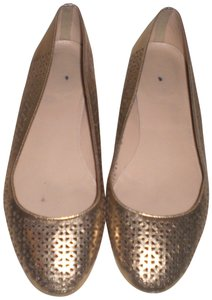 J.Crew Perforated Silver Flats