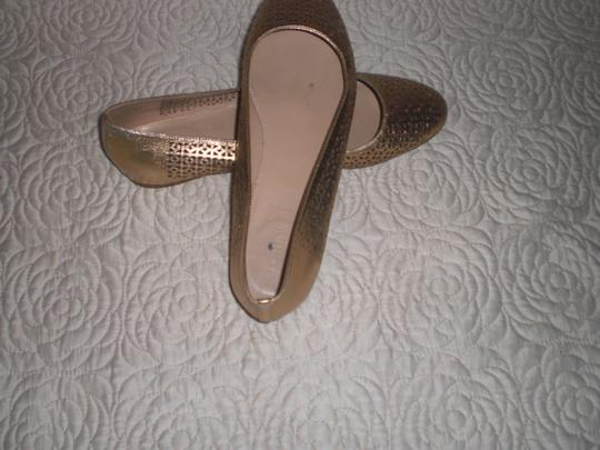 J.Crew Perforated Silver Flats Image 1
