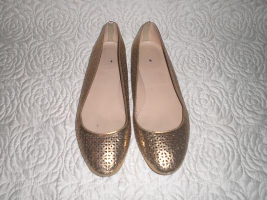 J.Crew Perforated Silver Flats Image 3