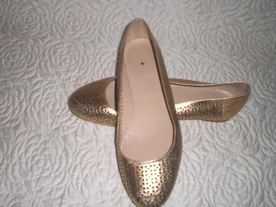 J.Crew Perforated Silver Flats Image 4