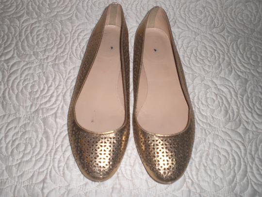 J.Crew Perforated Silver Flats Image 5