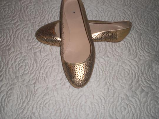 J.Crew Perforated Silver Flats Image 6