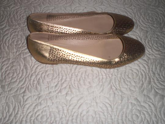 J.Crew Perforated Silver Flats Image 8