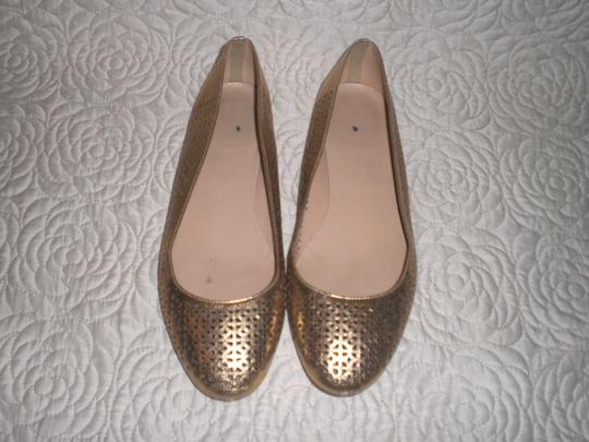 J.Crew Perforated Silver Flats Image 9